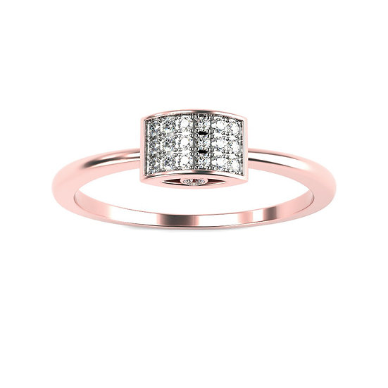 Bague ATTRACTION 0,09 carat Or Rose 375/1000