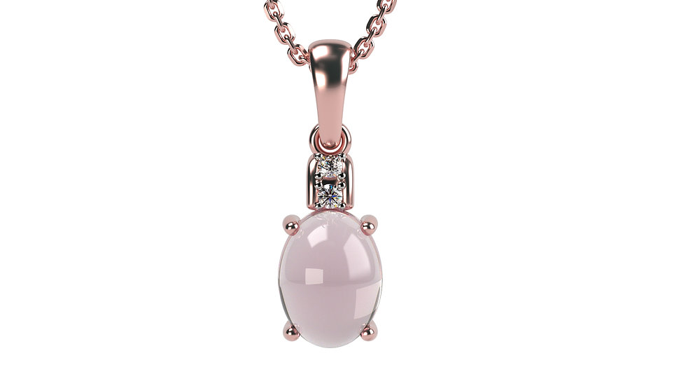 Pendentif BALLON 0,01 carat Or Blanc 375/1000