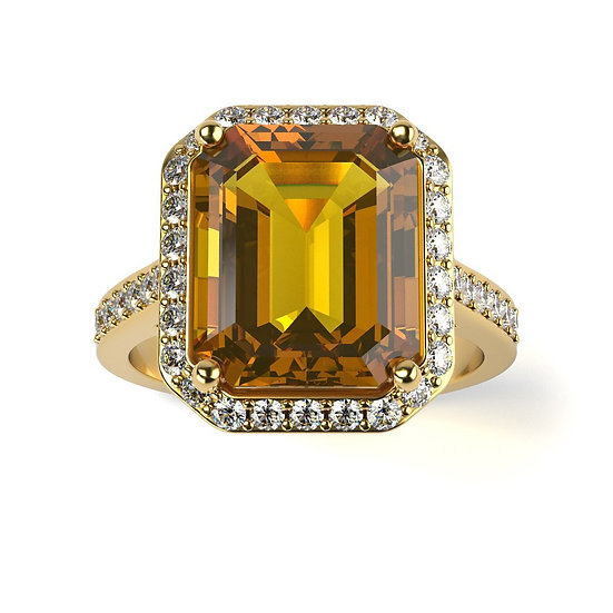 Bague SUPREME 0,1 carat Or Jaune 375/1000