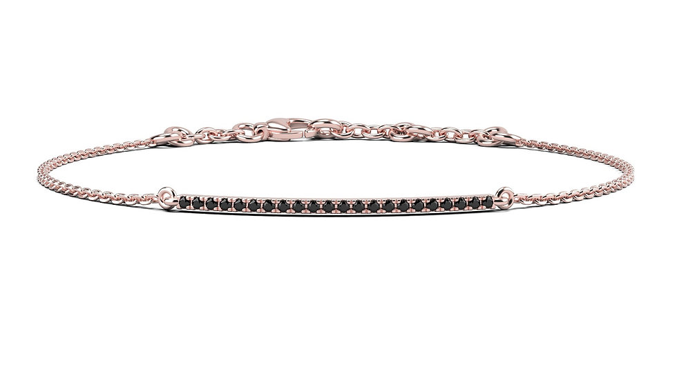 Bracelet FINESSE 0,1 carat Or Rose 375/1000