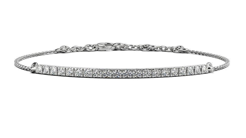 Bracelet FINESSE 0,5 carat Or Blanc 375/1000