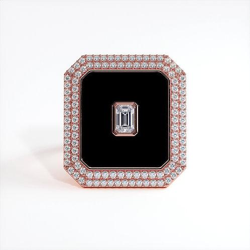 Bague Vendôme V Modèle XL Or rose Black