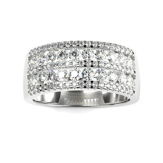 Bague BRILLANCE 1 carat Or Blanc 375/1000