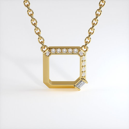 Collier Perception Or Jaune