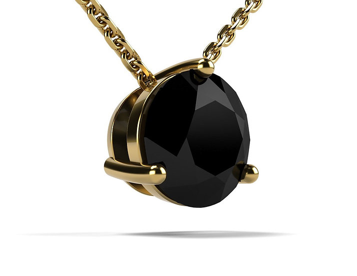 Collier FOUDRE 1 carat Or Jaune 375/1000
