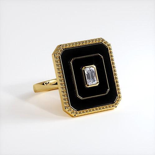 Bague Vendôme V Modèle L Or jaune Black