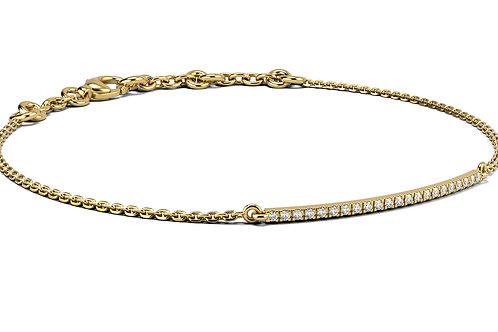 Bracelet Eternity Love Or Jaune