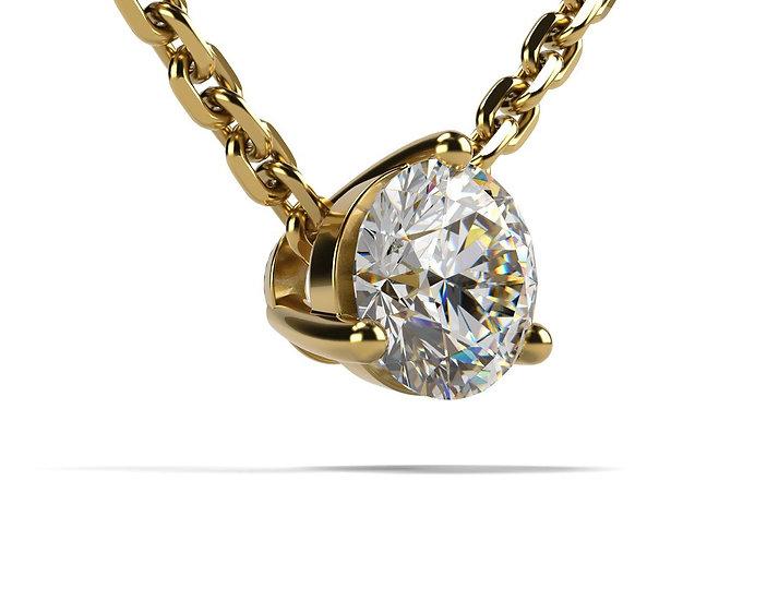 Collier FOUDRE 0,3 carat Or Jaune 375/1000