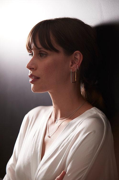 MONO Boucle d'oreilles Vendôme VI S Or Blanc