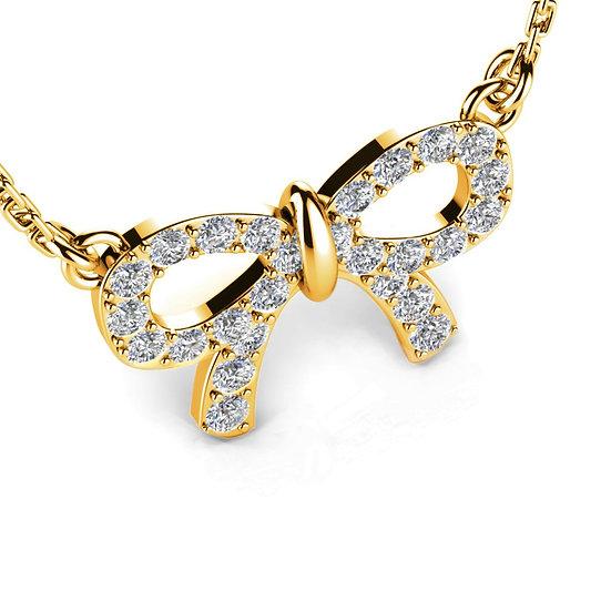Collier LIEN 0,1 carat Or Rose 375/1000
