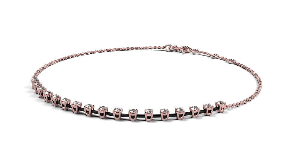 Bracelet AGAPE 0,37 Carat Or Rose 375/1000