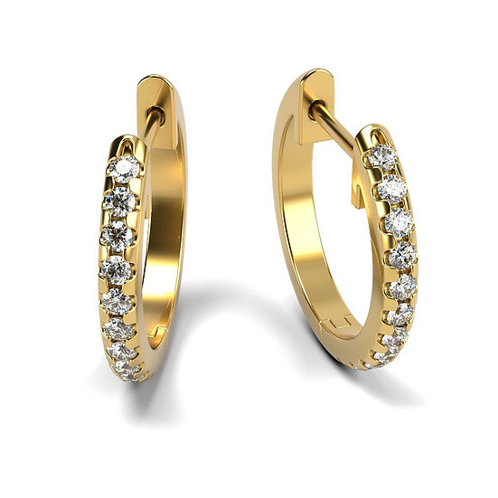 Boucles d'oreilles NEW YORK 0,28 carat Or Jaune