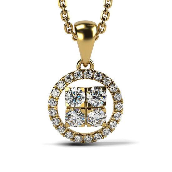 Collier SOLEIL 0,34 carat Or Jaune 375/1000