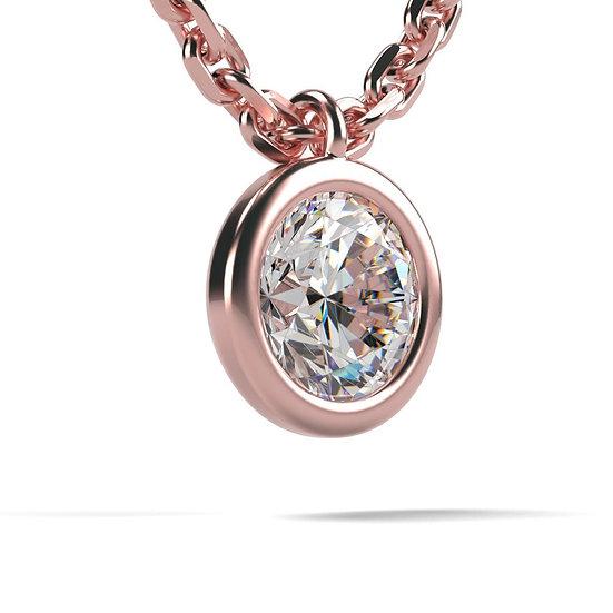 Collier FOLIE 0,09 carat Or Rose 375/1000