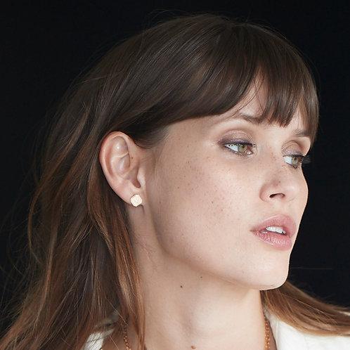 Boucles d'oreilles Medaille Vendome Or Blanc