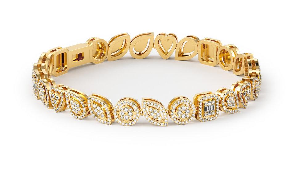Bracelet JUBILÉE 2,48 Carat 375/1000