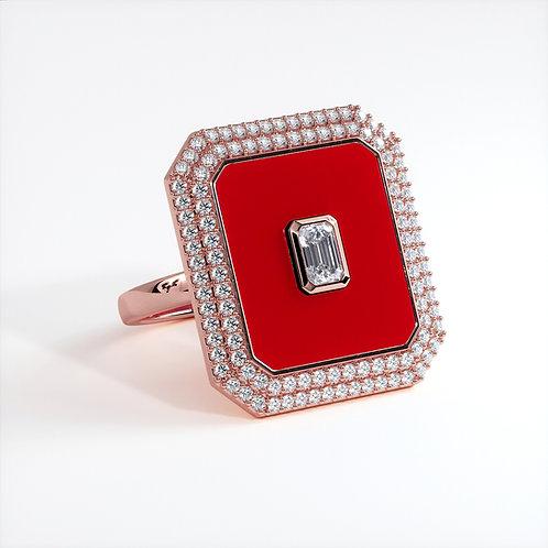 Bague Vendôme V Modèle XL Or Rose Red