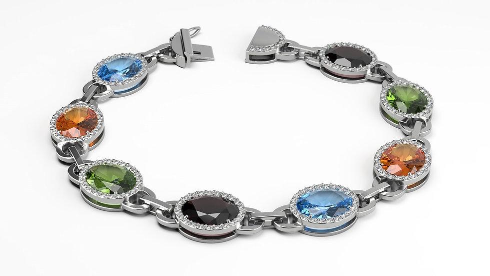 Bracelet PALACE 5 carat Or Blanc 0,585
