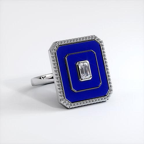 Bague Vendôme V Modèle L Or blanc Blue