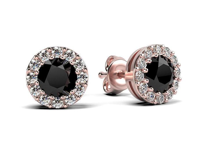 Boucles d'oreilles SONGE 0,16 carat Or Rose
