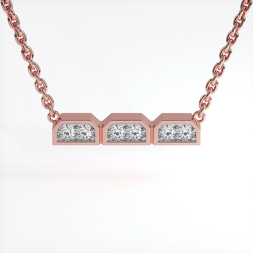 Collier Dynastie Or Rose