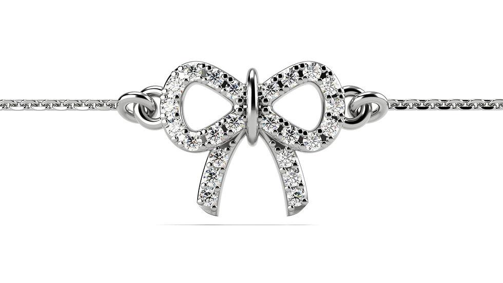 Bracelet LIEN 0,13 carat Or Blanc 375/1000