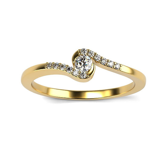 Bague SYMPHONIE 0,13 carat Or Blanc 375/1000