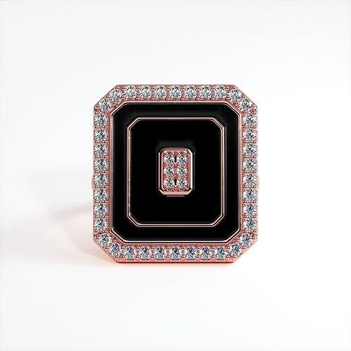 Bague Vendôme V Modèle M Or rose Black