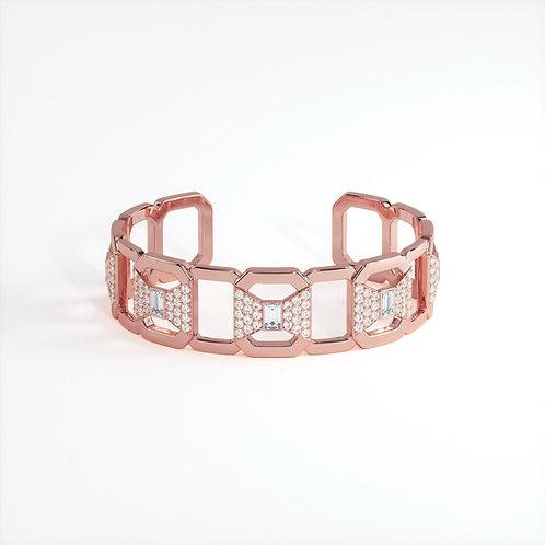 Bracelet Ruban Or Rose