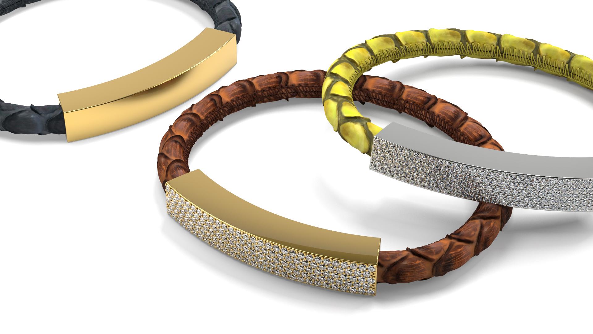 Bracelet_3Horizontal_7mm_Python_002