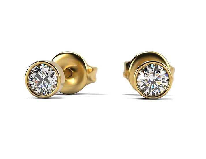 Boucles d'oreilles FOLIE 0,15 carat Or Jaune