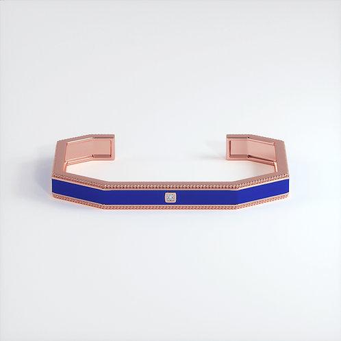 Bracelet Vendôme V Modèle S Or rose Blue