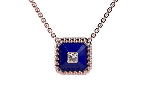 Collier Vendôme VII Modèle S Or rose Blue