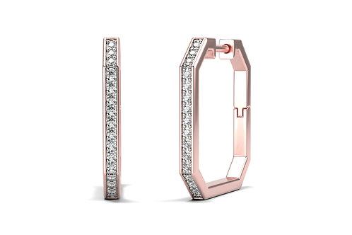 Boucles d'oreilles Vendôme VI Modèle M or rose