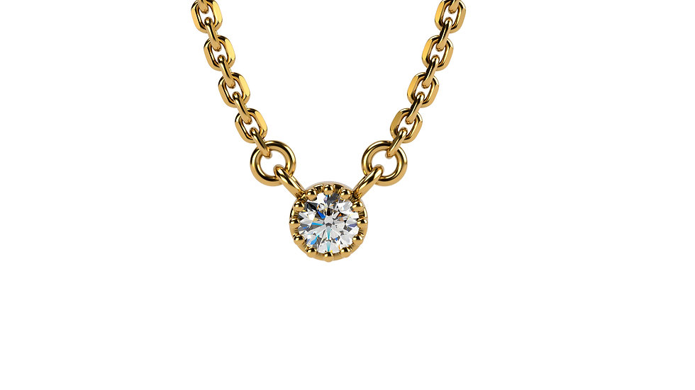 Collier AGAPE 0,04 Carat Or Jaune 375/1000