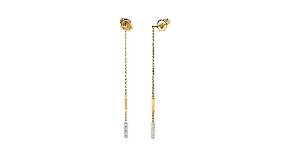 Boucles d'oreilles 2 Rencontre Or Jaune 0,08 Carat Or 375/1000