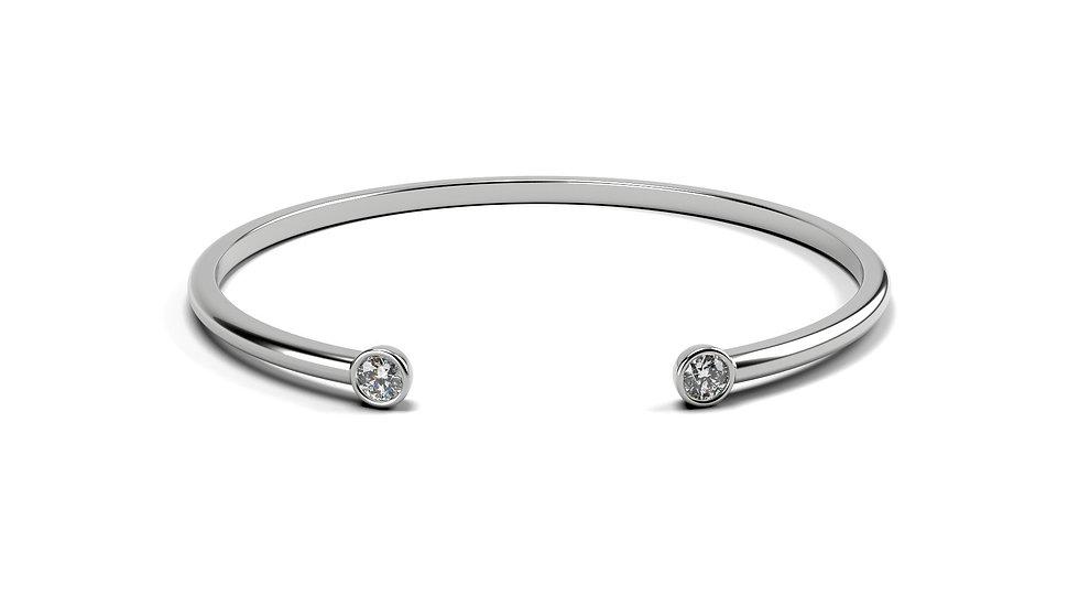 Bracelet EVASION 0,2 carat Or Blanc 375/1000