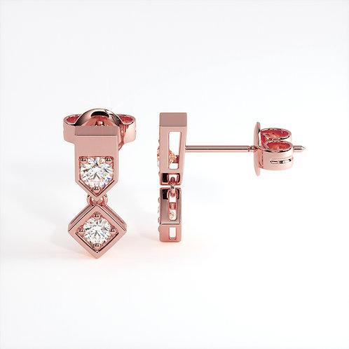 Boucles d'oreilles Vendôme VIII (Or rose)