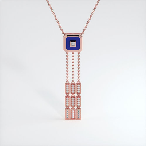 Collier Vendôme V Modèle S Or rose Blue