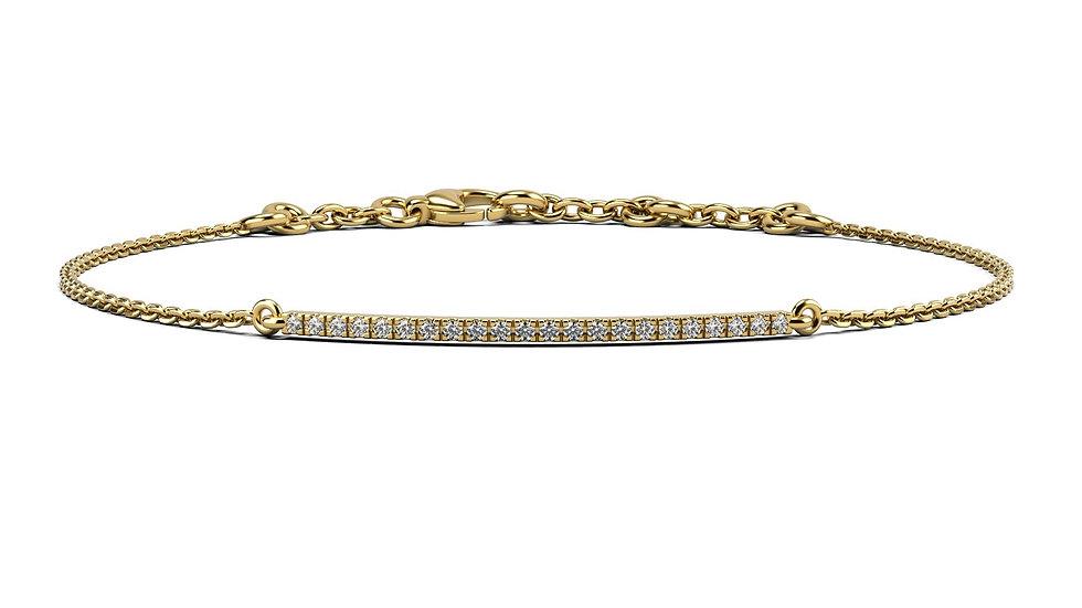 Bracelet FINESSE 0,1 carat Or Jaune 375/1000