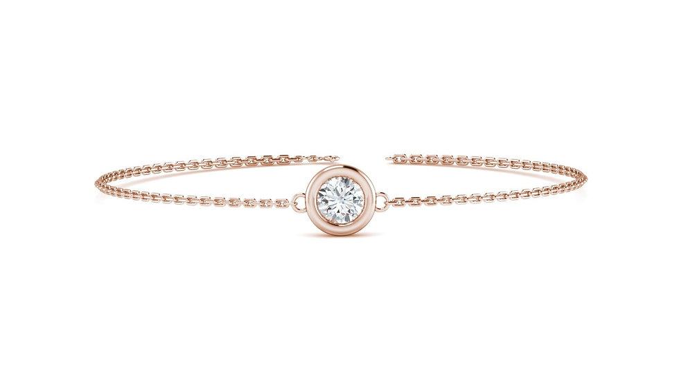 Bracelet FOLIE 0,09 carat Or Rose 375/1000