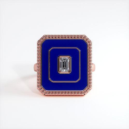 Bague Vendôme V Modèle L Or rose Blue