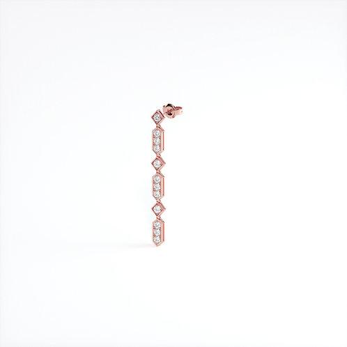 MONO Boucles d'Oreilles Vendôme VIII Modèle XL Or Rose