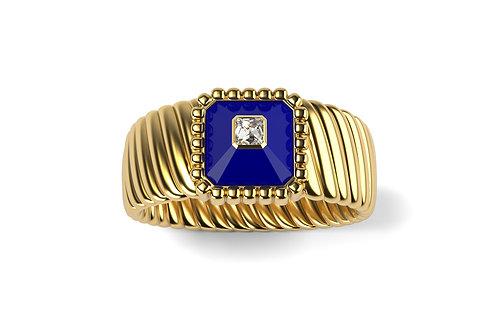 Bague Vendôme VII Modèle M Or jaune Blue