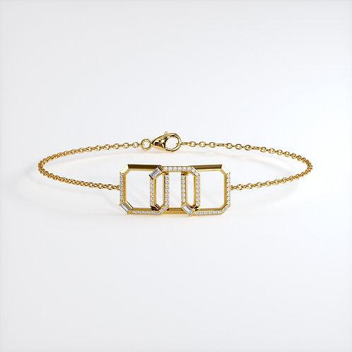 Bracelet Perception Or Jaune 66 diamants