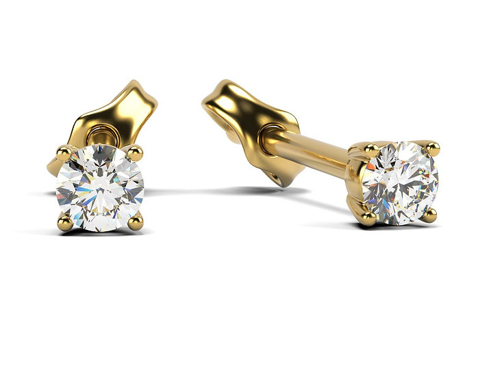 Boucles d'oreilles SINCERITY 0,15 carat Or Jaune