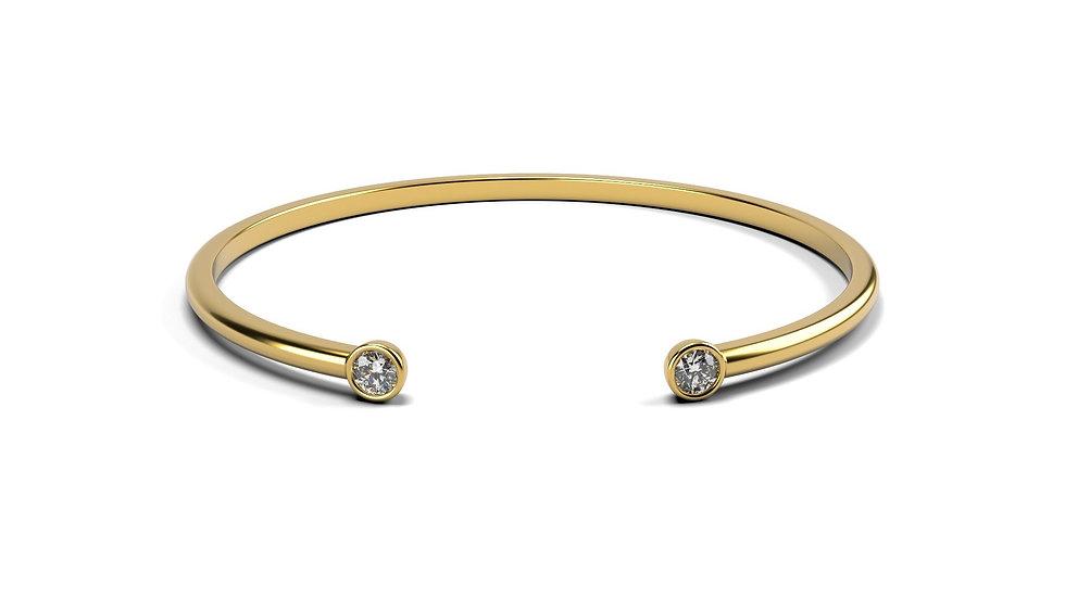 Bracelet EVASION 0,2 carat Or Jaune 375/1000