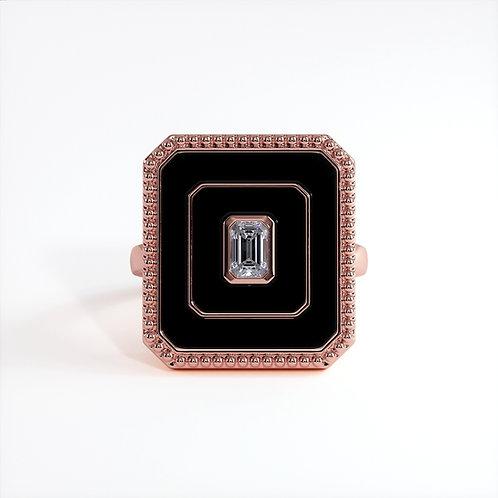 Bague Vendôme V Modèle L Or rose Black