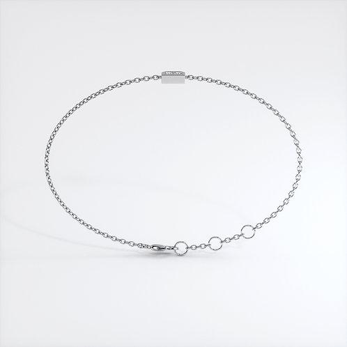 Bracelet Dynastie mini (or blanc)
