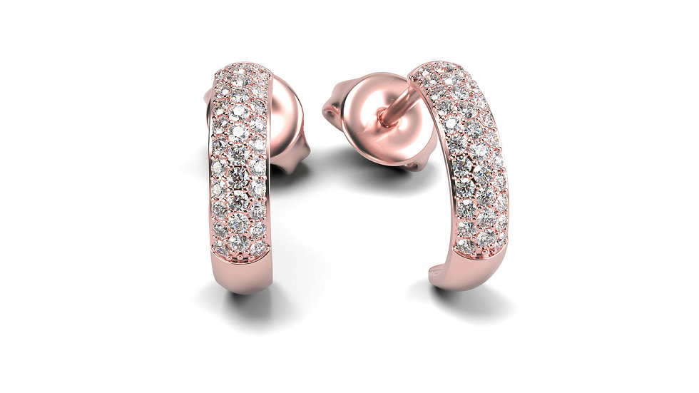 Boucles d'oreilles LOS ANGELES 0,30 Carat Or 375/1000